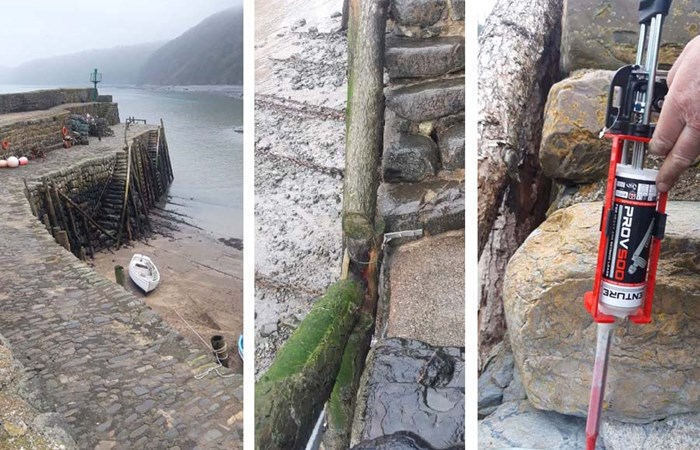PRO V500 resin used at Clovelly harbour